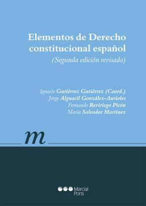 Portada de Elementos De Derecho Constitucional Español (2ª Ed.) (2015)