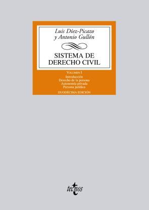 Sistema De Derecho Civil: Volumen I: Introduccion.derecho De la Persona. Autonomia Privada.persona Juridica (12ª) (2012)
