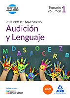 Portada de Cuerpo De Maestros Audicion y Lenguaje. Temario Volumen 1 (2015)