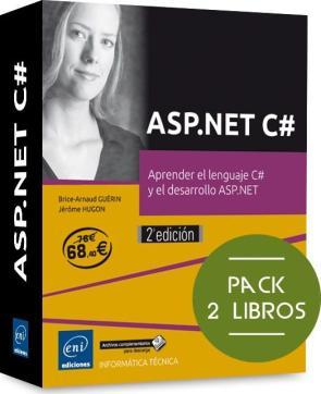 Asp.net c@: pack de 2 libros: aprende el lenguaje c@ y el desarrollo asp.net (2016)